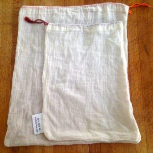sacs tissu 2 tailles Biocoop